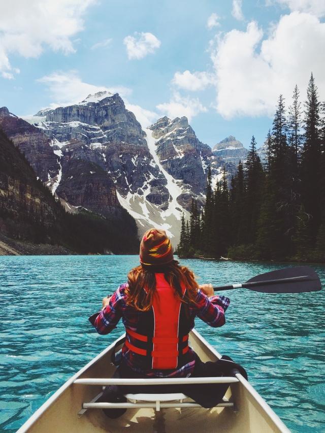 Lake Moraine inside of Banff National Park in Alberta, Canada. | daemaine