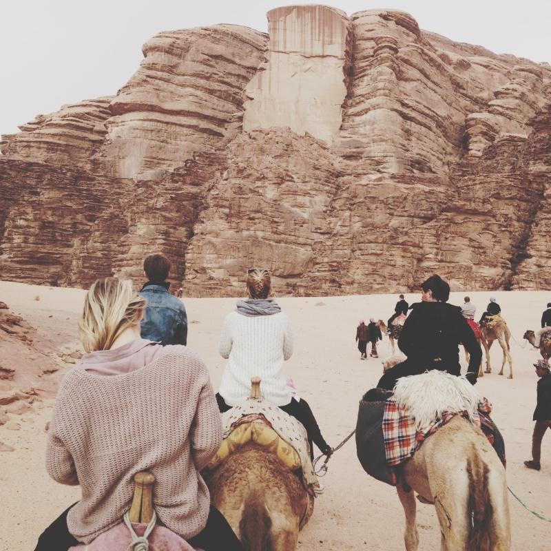 Traveling by camel in the Wadi rum desert #camels #desert #jordan #wadirum #tourism #traveling #nature | abracadabra