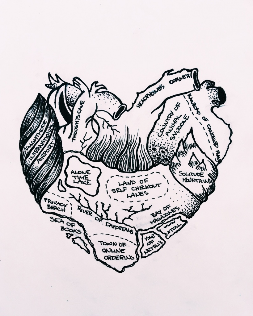 Airplane sketches sketch drawing anatomic heart introvert map lonely