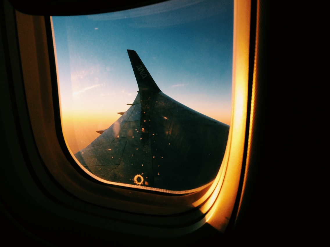 Voyage Sunrise Airplane Aesthetic Flight Airplanewindow